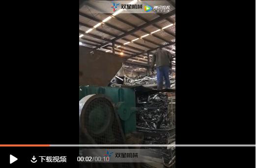 废铝破碎机生产线客户现场拍摄