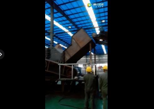 成都金属破碎机生产线拍摄视频