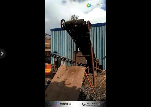 废铝破碎机现场物料实拍视频