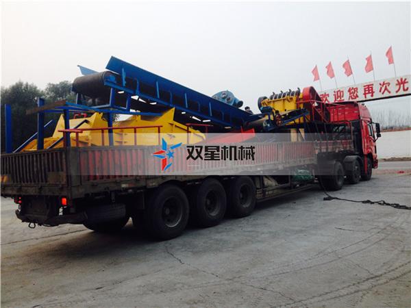 金属破碎机设备1800型设备发往上海
