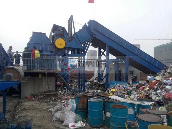废钢破碎机设备一整套配置安装细节