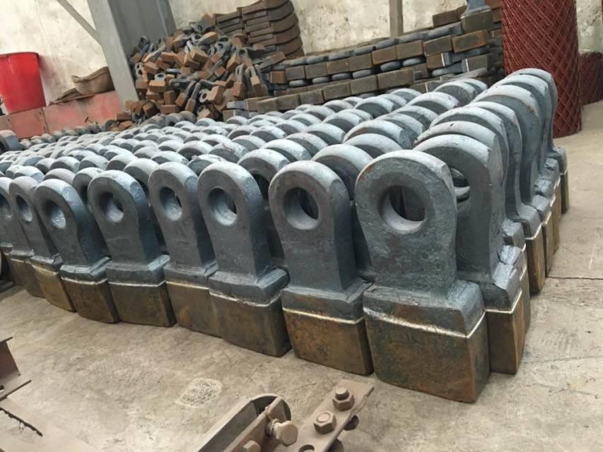 废钢破碎机锤头工作过程直接关系到设备的产量及损耗