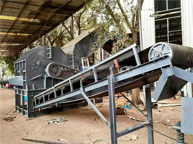 废铝破碎机生产线上海客户设备现场实拍