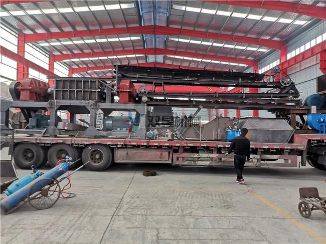 废钢破碎机生产线视频作业现场