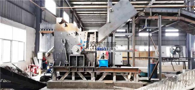 生铝破碎机生产线江西客户设备安装现场