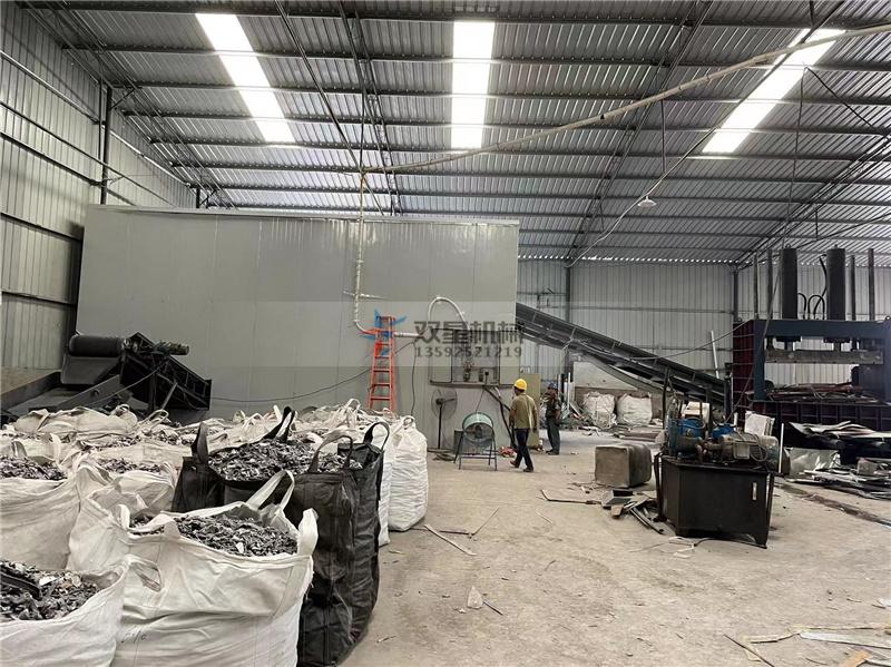 废铝破碎机生产流程现场图片展示
